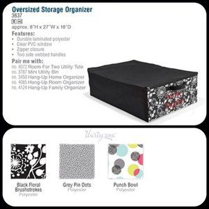 NEW Black Oversized Storage Organizer NIP  27x18x8